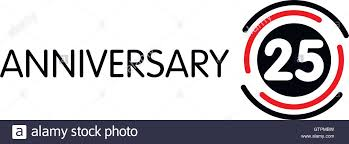 twenty fifth anniversary anniversary vector label twenty fifth anniversary symbol