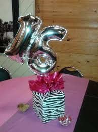 Black And Silver Centerpieces by Sweet 16 Balloon Centerpiece Pink Black White Silver