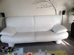 canapé cuir blanc 3 places achetez canapé cuir blanc 3 occasion annonce vente à nomeny 54