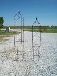 set of 2 huge obelisk trellises