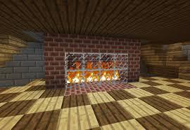 brick fireplace minecraft screenshot