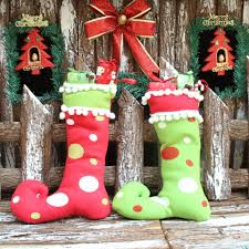 2017 new style christmas decoration christmas gift boots cloth art