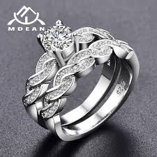vintage wedding ring sets mdean white gold color ring sets for women engagement women rings