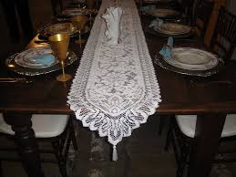 ivory lace table runner ivory lace table runner table designs