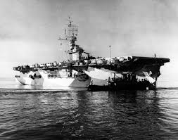 the uss white plains cve 66 which was hit by the battleship