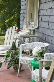 bright fresh green adds charm to our front porch