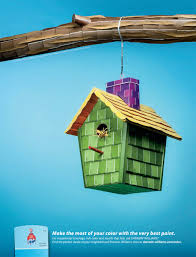 sherwin williams print advert by mckinney color chips birdhouse