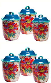 canisters and jars 20654 canister set ceramic jars lids 3 piece
