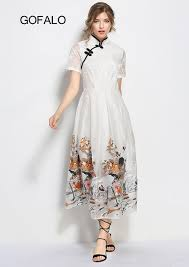 compare prices on dress with crane embroidery online shopping buy