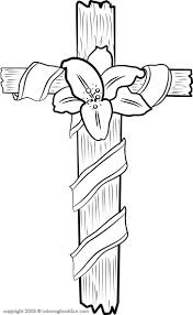 cross lilie coloring page color book