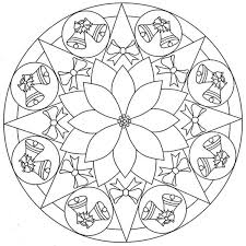 christmas bell coloring bell mandala coloring pages kids free