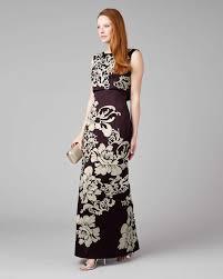 doris embroidered full length dress aubergine phase eight
