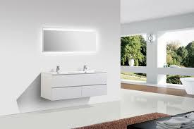 Bathroom Furniture White Bathroom Furniture Set 1380 Matte White Optional Mirror