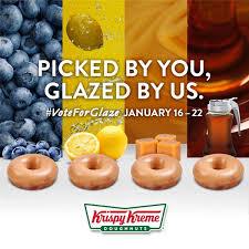 krispy kreme wants you to choose its next doughnut glaze flavor