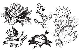vintage tattoo vectors