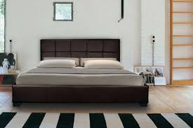 faux leather gas lift ottoman storage bed 2 colours