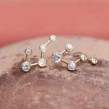 creative earrings big dipper diamond constellation earrings large logan hollowell