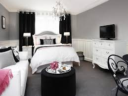 Pink And Black Bedrooms Bedroom Ideas Awesome Decor Black And White And Pink Bedroom