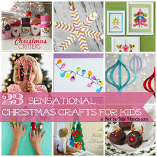 23 sensational christmas crafts for kids by notsoidlehands com