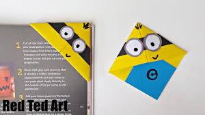 fun minion bookmark craft youtube