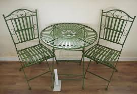 Bistro Chairs Uk Ornate Antique Green Wrought Iron Metal Garden Table And