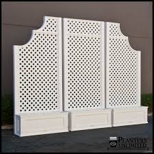 planters with trellises trellis planters hooks u0026 lattice