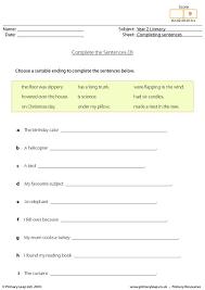 primaryleap co uk completing sentences 3 worksheet