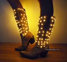 light up cowgirl boots womens battery powered by neonnightlife