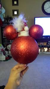 diy mickey mouse tree topper with santa hat so easy to make