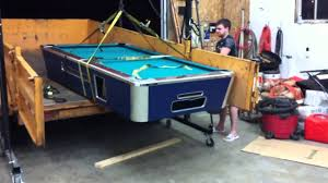how to disassemble a pool table how not to move a pool table youtube