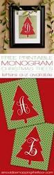 free monogram christmas tree printable free monogram printable