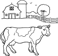 dairy cow coloring page free download