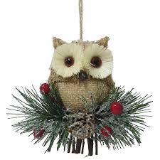 shop holiday living brown white green red owl ornament at lowes com