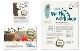 workshop flyer template writers workshop flyer ad template design