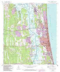Jacksonville Map Jacksonville Beach Topographic Map Fl Usgs Topo Quad 30081c4