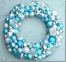 Silver And Blue Christmas Decorations Picture by How To Make A Christmas Ornament Wreath Tiffany Blue Christmas