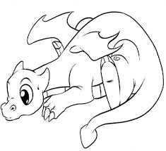 the elegant and also interesting cute dragon coloring pages with