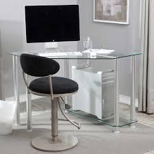Glass And Chrome Desk Amazing Glass Corner Computer Desk Ikea 23 On Decor Inspiration