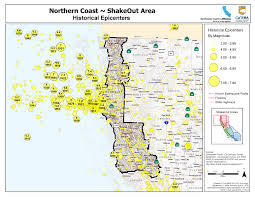 Oregon Tsunami Map by The Great California Shakeout North Coast Area