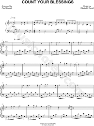 Count Your Blessings Lyrics And Chords Paul Cardall Count Your Blessings Sheet Piano In C