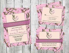 Camo Wedding Invitations Hooked On Love Camo Wedding Invitation And Rsvp Card By Mrsprint