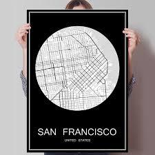 Home Decor San Francisco Online Get Cheap San Francisco Map Aliexpress Com Alibaba Group
