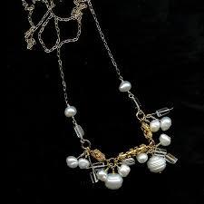 rock crystal quartz necklace images Circle pearls rock crystal quartz mix bhwydesigns luxurious jpg