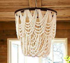 Pottery Barn Kids Chandeliers Amelia Wood Bead Chandelier Pottery Barn