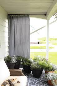 diy outdoor curtain rod u0026 outdoor curtains