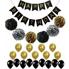 60th birthday decorations 2018 black and gold party decorations birthday