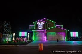 light show house in riverside ca california through