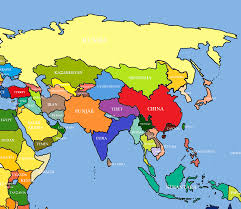 map if asia vector map of asia continent political one stop prepossessing