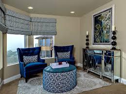 Blue Velvet Wingback Chair Antique Carpet For Classic Living Room 23606 Living Room Ideas