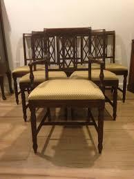 Solid Mahogany Dining Table Set Of 6 Vintage 1930 U0027s Solid Mahogany Dining Chairs Sold On Ruby Lane